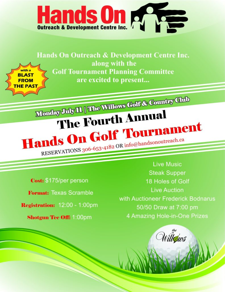Poster Hands On 2016 Golf Tournament