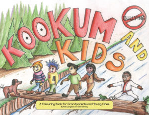 Kookum and Kids Vol.1 Cover - Colouring book for adults and kids